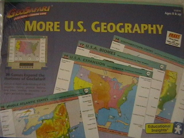 Geosafari Electronic Learning Game More US Geography (Pk)