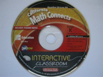 California Math Connects K Interactive Classroom (CA)(CD)
