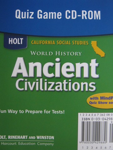 Ancient Civilizations Quiz Game on CD-ROM (CA)(CD)