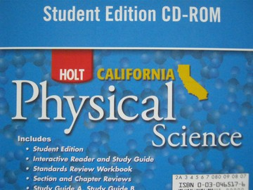 California Physical Science Student Edition CD-ROM (CA)(CD)