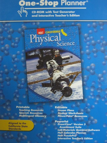 California Physical Science One-Stop Planner (CA)(TE)(CD)