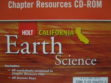 California Earth Science Chapter Resources CD-ROM (CA)(CD)
