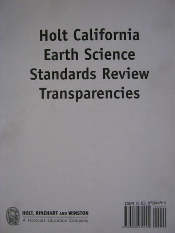 California Earth Science Standards Review Transparencies (Pk)
