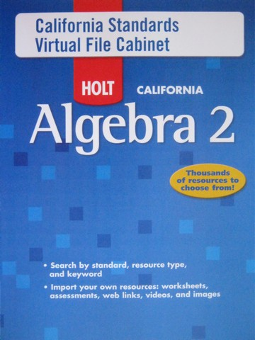 California Algebra 2 California Standards Virtual File (CD)