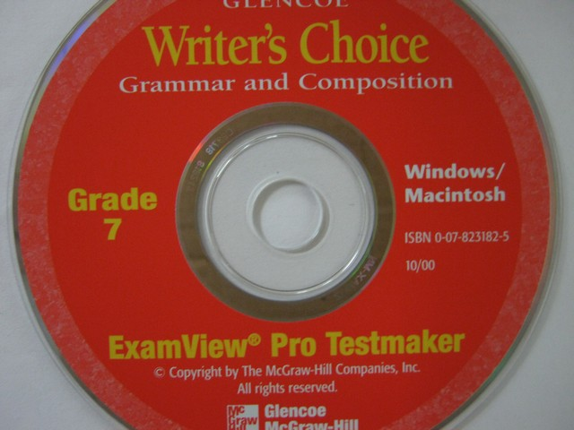 Writer's Choice 7 ExamView Pro Testmaker (CD)