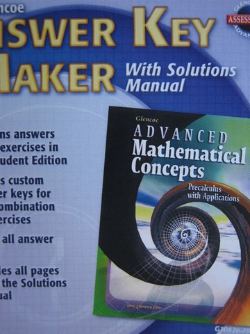 Advanced Mathematical Concepts Answer Key Maker (CD)