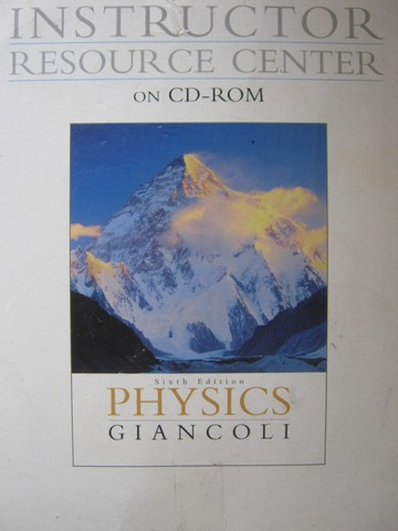 Physics 6th Edition Instructor Resource Center CD 1 (TE)(CD)