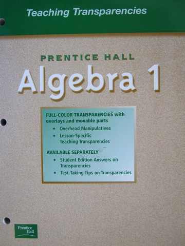 Algebra 1 Teaching Transparencies (P)