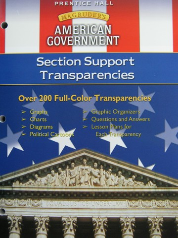 Magruder's American Government Section Support Transparencies(P)