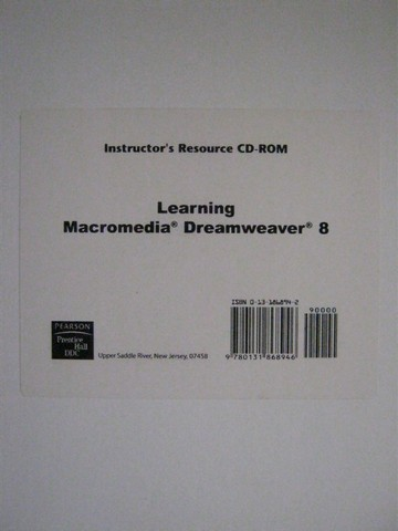 Learning Macromedia Dreamweaver 8 Instructor's Resource (CD)