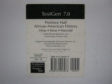 African-American History TestGen 7.0 (CD) by Hine, Hine,