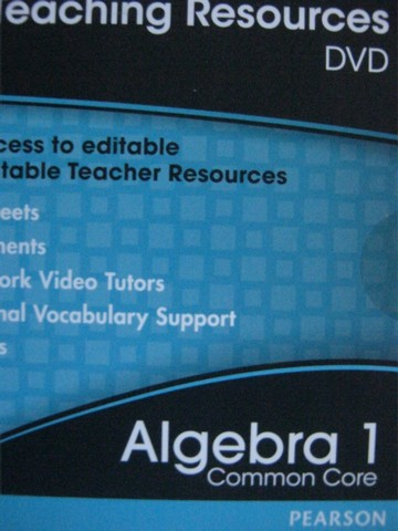 Algebra 1 Common Core Teaching Resources (TE)(DVD)
