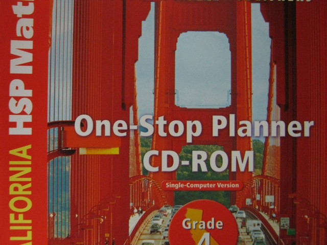 California HSP Math 4 One-Stop Planner CD-ROM (CA)(CD)