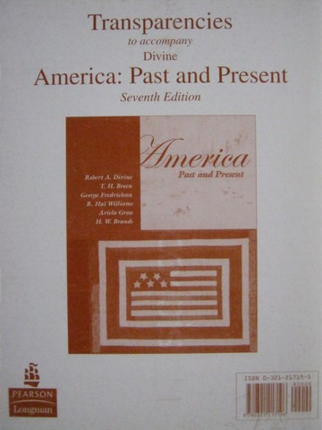 America Past & Present 7th Edition Transparencies (PK)