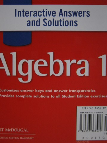 Algebra 1 Interactive Answers & Solutions (CD)