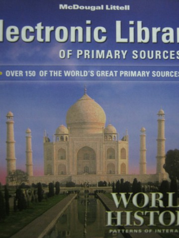 World History Patterns of Interaction Electronic Library (CD)