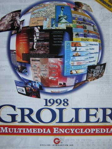 1998 Grolier Multimedia Encyclopedia Windows Version 10.0 (CD)