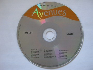 Avenues Level B Song CD 1 (CD)