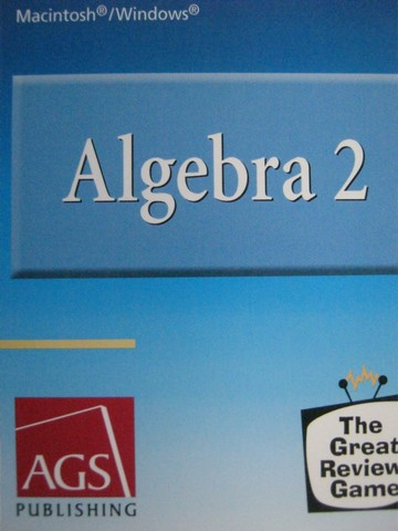 AGS Algebra 2 Great Review Game (CD)