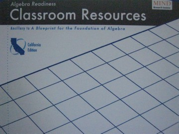 Algebra Readiness Program Classroom Resources (CA)(CD)