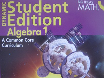 Big Ideas Math Algebra 1 Dynamic Student Edition (CA)(DVD)