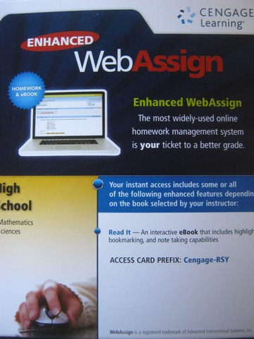 Enhanced WebAssign High School Mathematics & Science (Card)