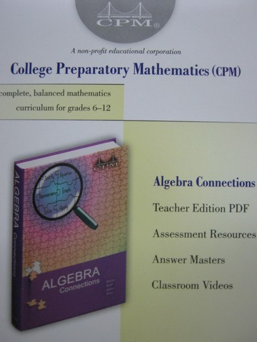 CPM Algebra Connections Assessment & TE (TE)(CD)