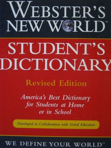 Webster's New World Student Dictionary Revised Edition (H)