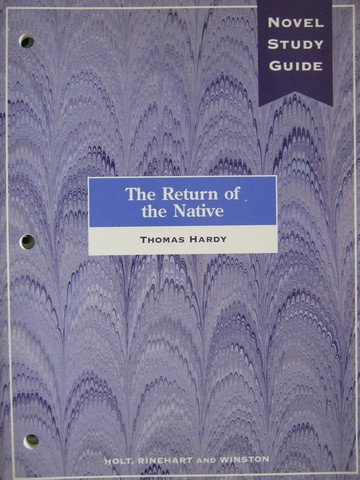 Novel Study Guide The Return of the Native (P) by Tomlinson