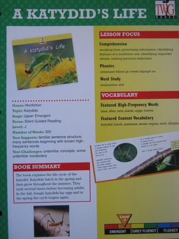 TWiG Books A Katydid's Life Instruction Guide (TE)(P)
