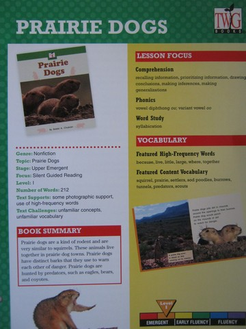 TWiG Books Prairie Dogs Instruction Guide (TE)(P)