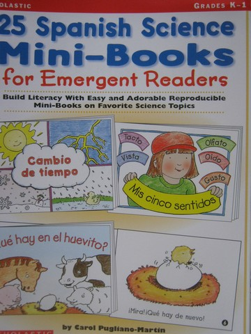 25 Spanish Science Mini-Books for Emergent Readers K-1 (P)