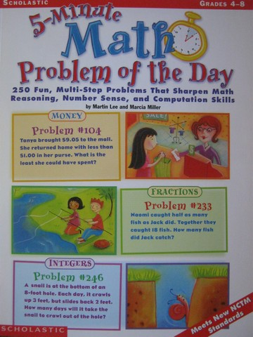 5-Minute Math Problem of the Day Grades 4-8 (P) by Lee & Miller