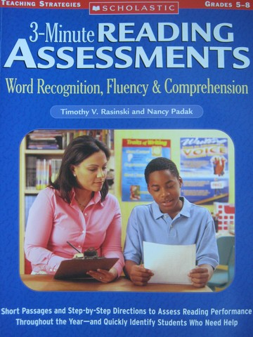3-Minute Reading Assessments Grades 5-8 (P) by Rasinski,