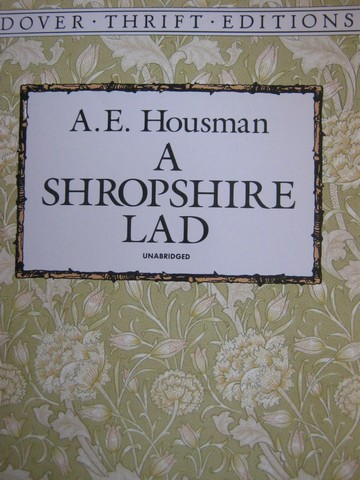 A Shropshire Lad Unbridged Dover Thrift Edition (P) by Housman