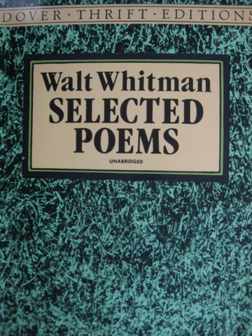Selected Poems Dover Thrift Editions (P) by Walt Whitman