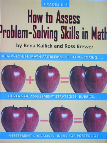 How to Assess Problem-Solving Skills in Math Grades K-2 (P)