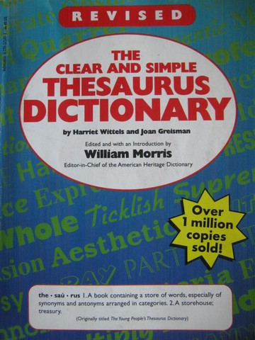 Clear & Simple Thesaurus Dictionary Revised Edition (P)