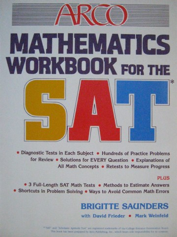 Mathematics Workbook for the SAT (P) by Saunders, Frieder,