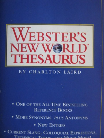 Webster's New World Thesaurus (P) by Charlton Laird