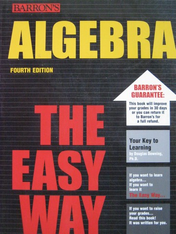 Algebra the Easy Way 4th Edition (P) by Douglas Downing