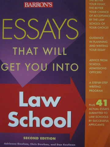 Essays That Will Get You into Law School 2nd Edition (P)