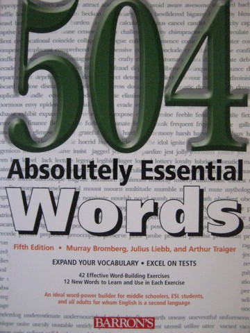 504 Absolutely Essential Words 5th Edition (P) by Bromberg,