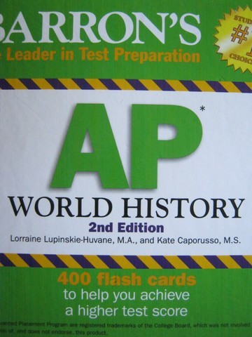 Barron's AP World History 2nd Edition Flash Cards (Box)
