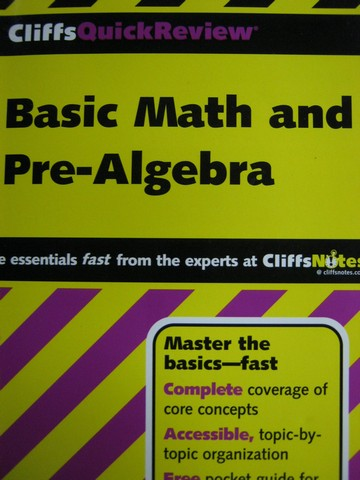 CliffsQuickReview Basic Math & Pre-Algebra (P) by Bobrow