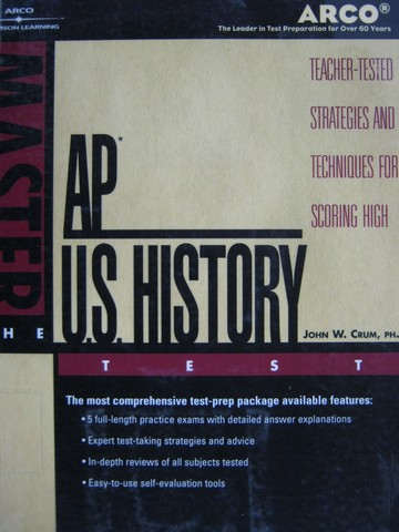 Master the AP U.S. History Test 2002 (P) by John W. Crum