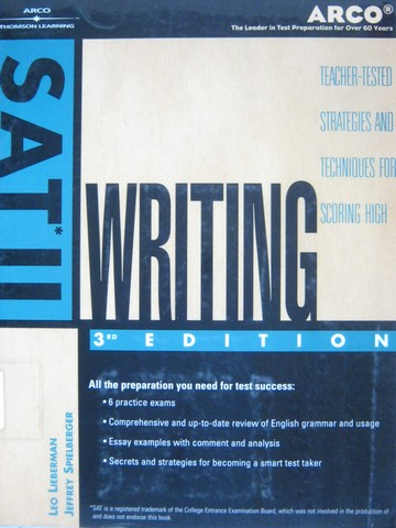 SAT II Writing 3rd Edition (P) by Lieberman, Spielberger