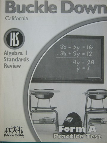 Buckle Down Algebra 1 Standards Review Form A (CA)(P)