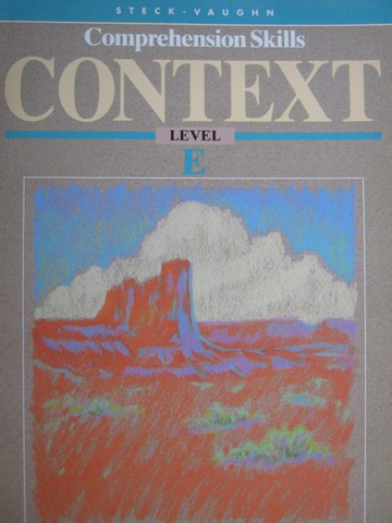 Comprehension Skills Context E (P) by Beech, McCarthy & Townsend