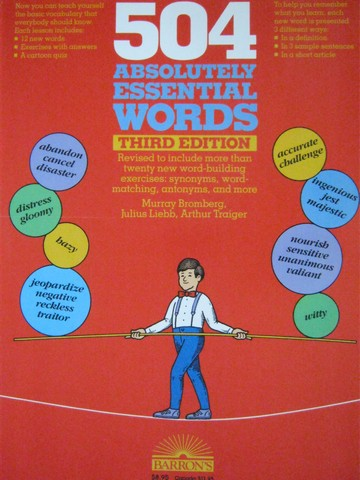 504 Absolutely Essential Words 3rd Edition (P) by Bromberg,